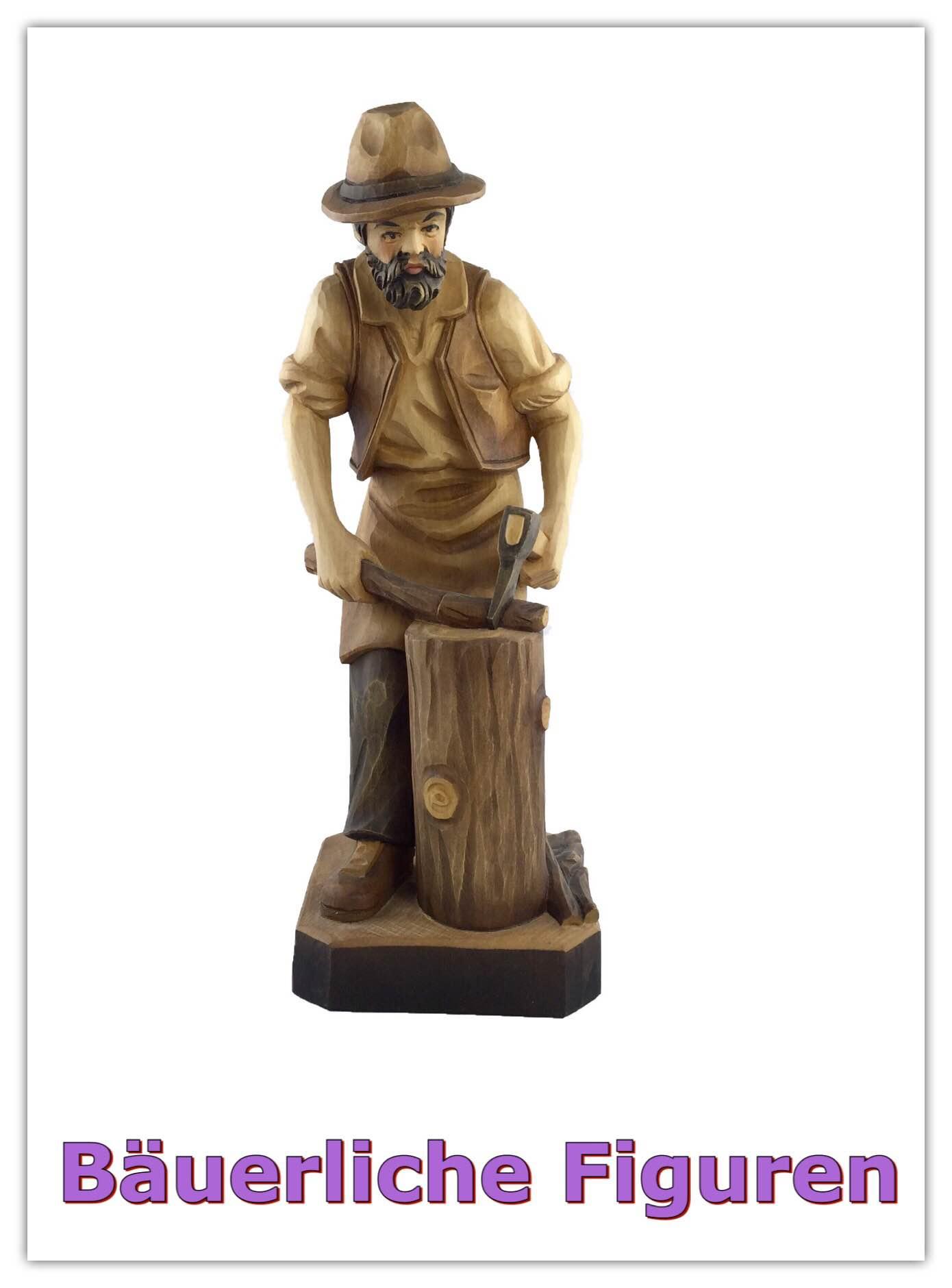 Holzschnitzer Martin Seer in Wagrain Holzfiguren Krippenfiguren